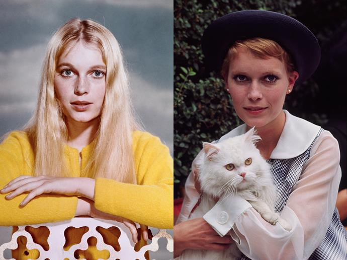 "***Mia Farrow***<br><br> Mia Farrow's close-cut pixie, which became famous after her roles in *Rosemary's Baby* and *The Great Gatsby*, was a stroke of genius on her part.<br><br> ""I had literally cut it myself earlier that year—with a pair of fingernail scissors—while working on the *Peyton Place* TV series at Fox Studios. This was long before I ever heard of Vidal Sassoon,"" said Farrow. ""My then-boyfriend, Frank Sinatra, loved the cut, and so I kept it short."""