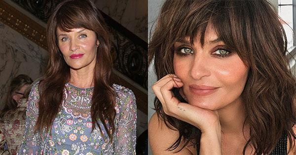 **Helena Christensen** <br><br> The supermodel revealed she had taken inches off her signature waves, with a Instagram post via her make-up artist Hung Vanngo.