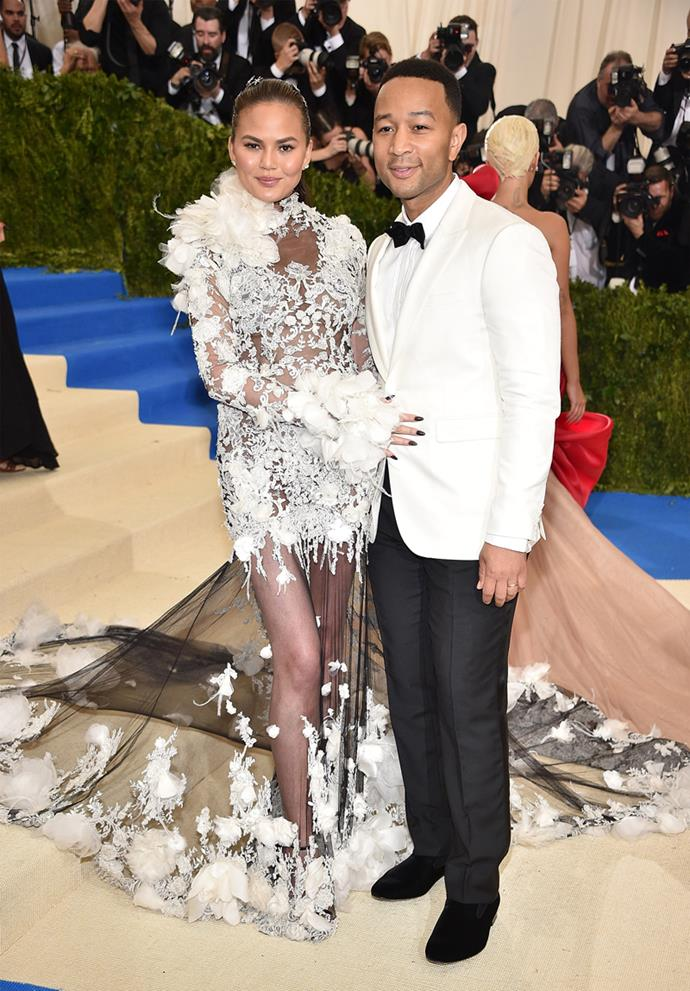Chrissy Teigen and John Legend, 2017