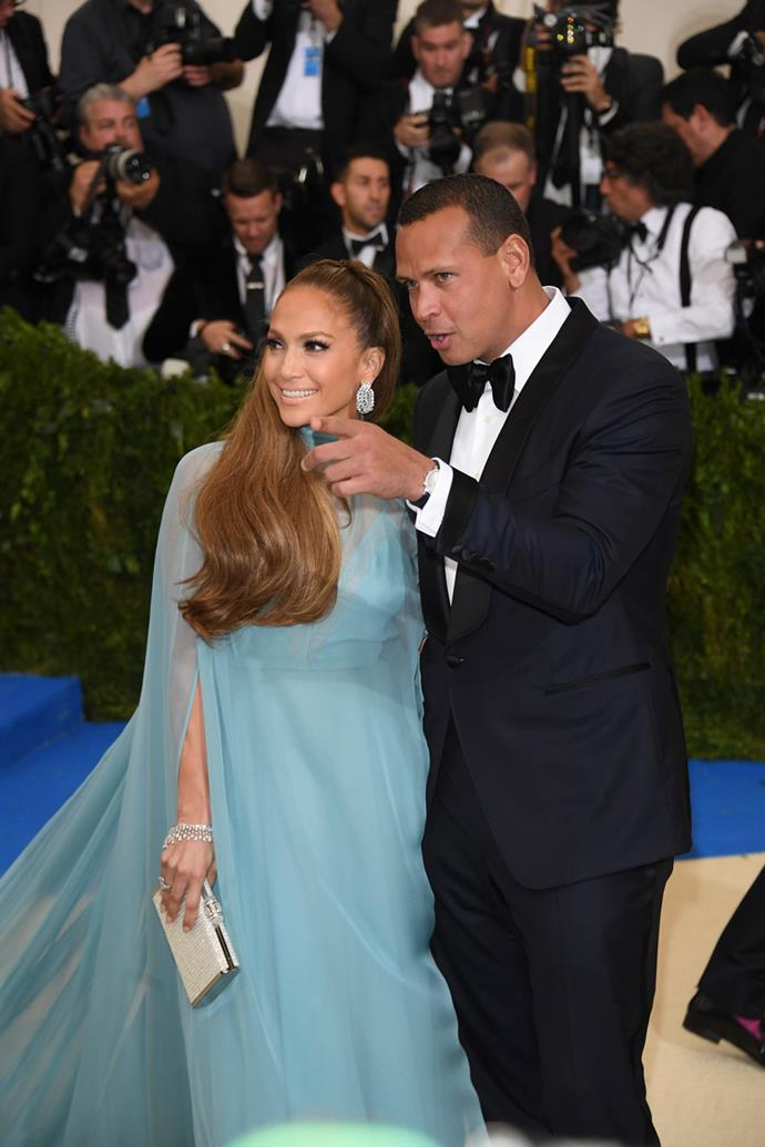 Jennifer Lopez and Alex Rodriguez, 2017