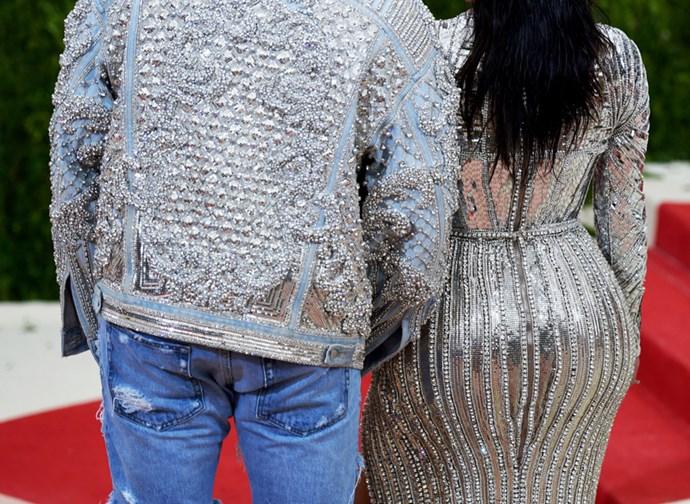 Kim Kardashian and Kanye West, 2015