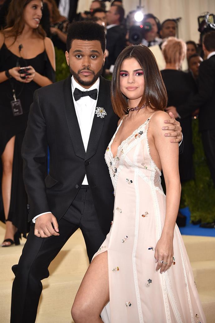 The Weeknd and Selena Gomez, 2017
