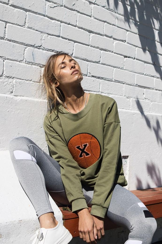 """**FIRST BASE** <br><br> We're yet to find a sportswear label more Bondi-glamour than First Base—a local label that radiates street-cred, and intersects sportswear with independent, sustainable fashion.  <br><br> *Pictured: The Off Duty Baller Sweater, $139.00, and Replay Full-Length Compression Legging, $159.00, at [First Base](https://thisisfirstbase.com/