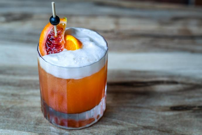 """**Regal Blood Orange Negroni:** Made with london dry gin, regal rogue bold red vermouth, aperol, fresh blood rosso orange spritz, and is available from [Olio Kensington Street](https://olio.kensingtonstreet.com.au/