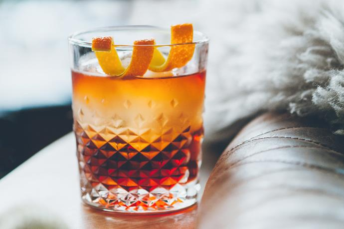 """**The Barrelled Negroni:** Made with gin, campari and sweet vermouth, which marry together after aging in a barrel for two to four weeks, and is available at [Hunter & Barrel](http://hunterandbarrel.com/