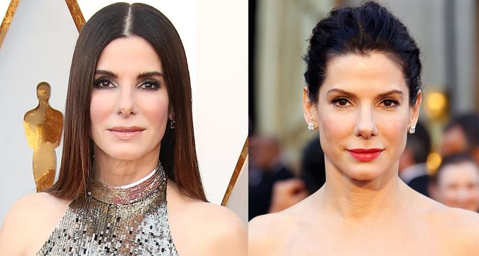 Sandra Bullock at the 90th Academy Awards vs. Sandra Bullock at the 83rd Academy Awards.