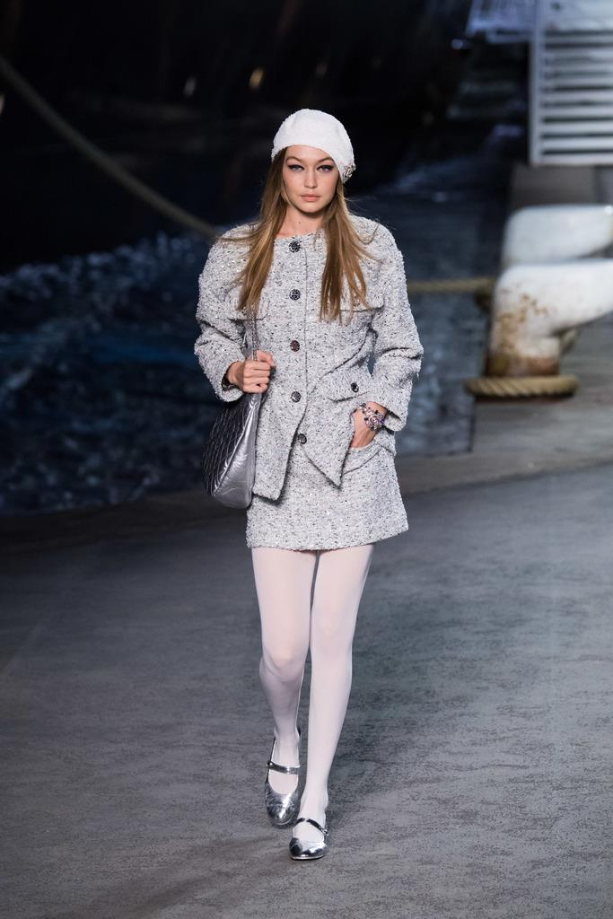 **Gigi Hadid at Chanel Cruise '19.**