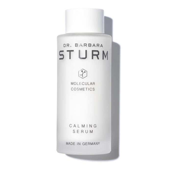 """Dr. Barbara Sturm Calming Serum, $334 at [Revolve](http://www.revolveclothing.com.au/dr-barbara-sturm-calming-serum/dp/DRBR-WU11/?d=Womens&page=1&lc=8&itrownum=3&itcurrpage=1&itview=01&plpSrc=%2Fr%2FSearch.jsp%3Fsearch%3Dbarbara%2Bstrum%26d%3DWomens%26sortBy%3Dfeatured