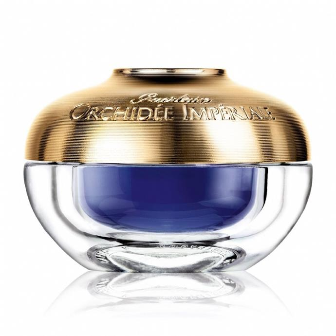 "Guerlain Orchidée Impériale Eye & Lip, $285 at [Myer](https://www.myer.com.au/shop/mystore/eye-creams/orchidee-imperiale-eye-lip-15ml-607666400-933630050|target=""_blank""|rel=""nofollow"")."