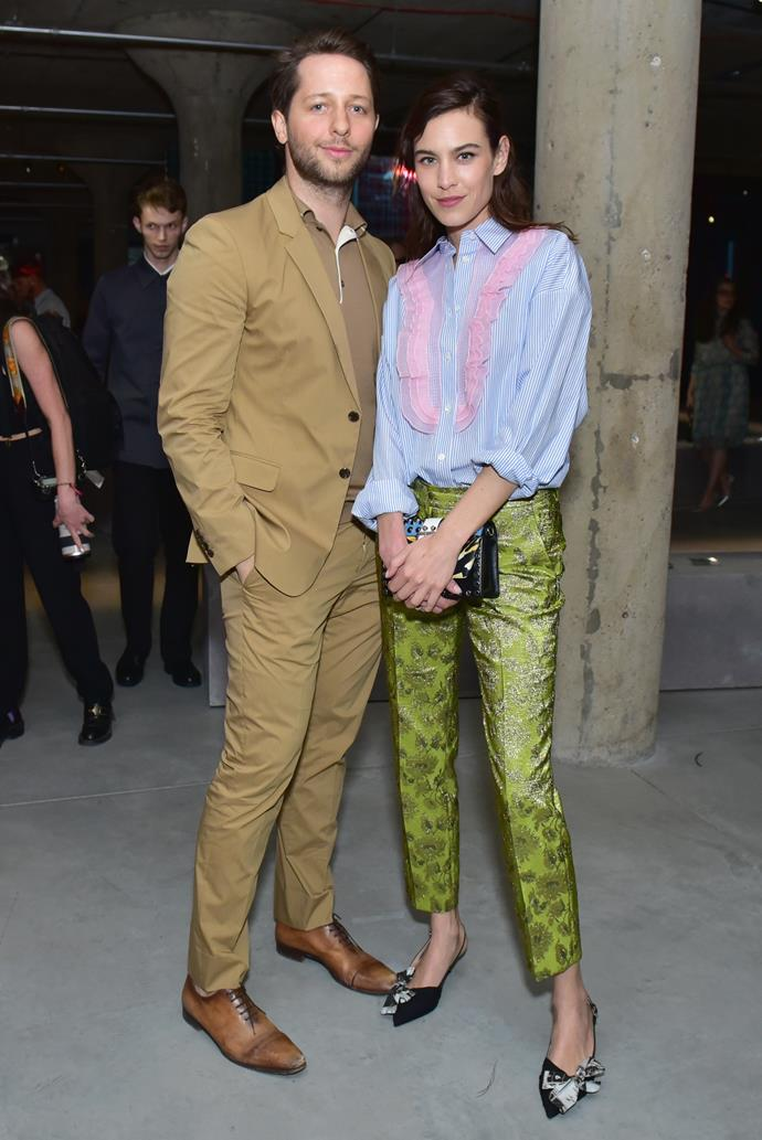 Derek Blasberg and Alexa Chung