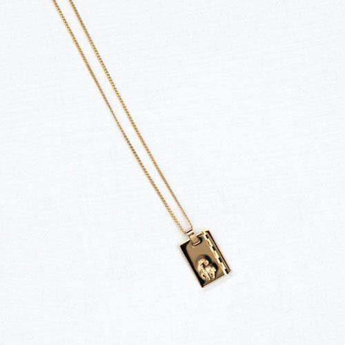 """Reliquia Star Sign Zodiac Necklace, $149 at [The Undone](https://www.theundone.com/products/reliquia-star-sign-pendant-with-chain