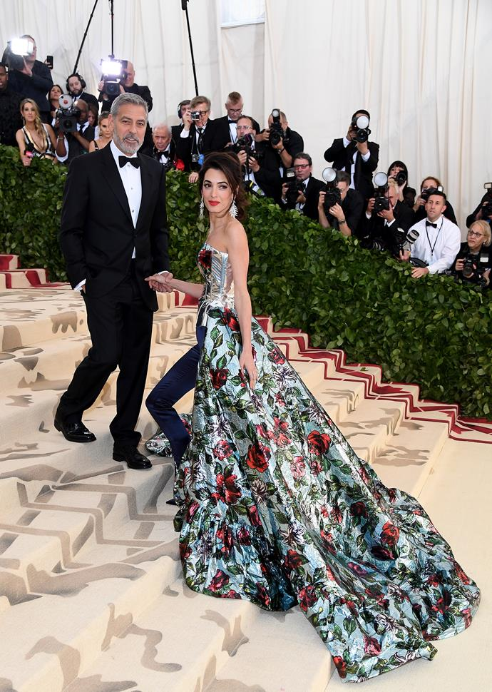 Amal Clooney and her husband.