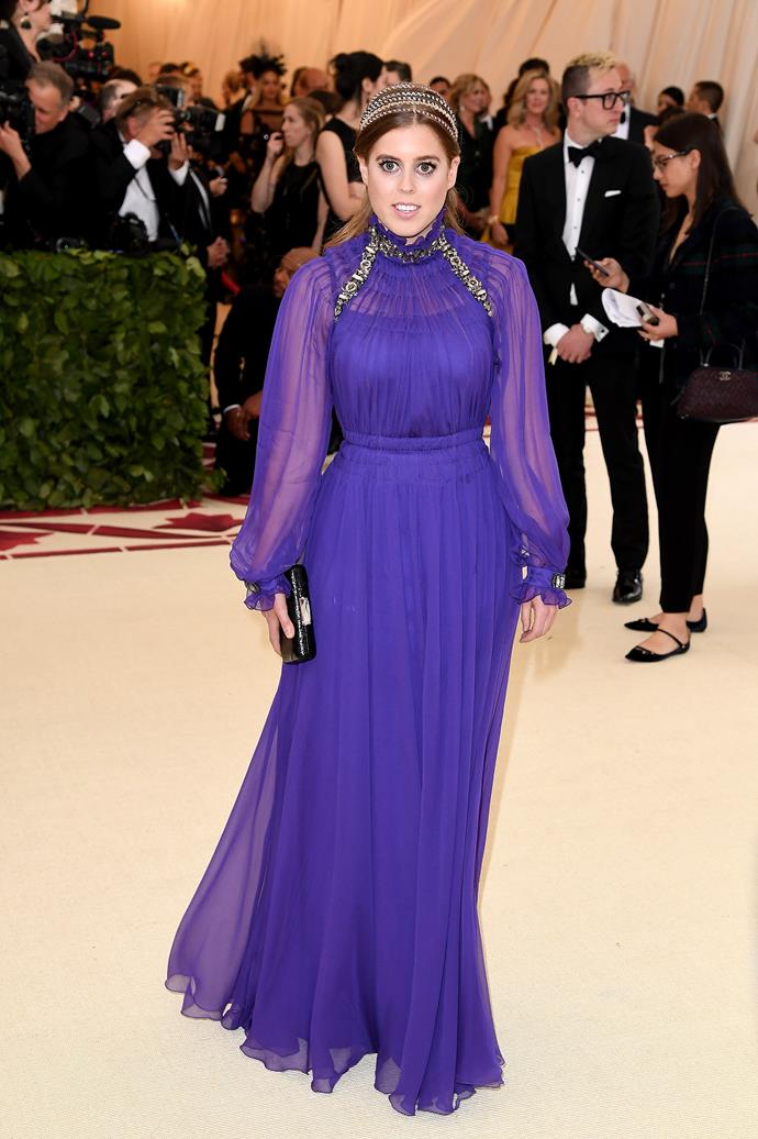 Princess Beatrice in Alberta Ferretti