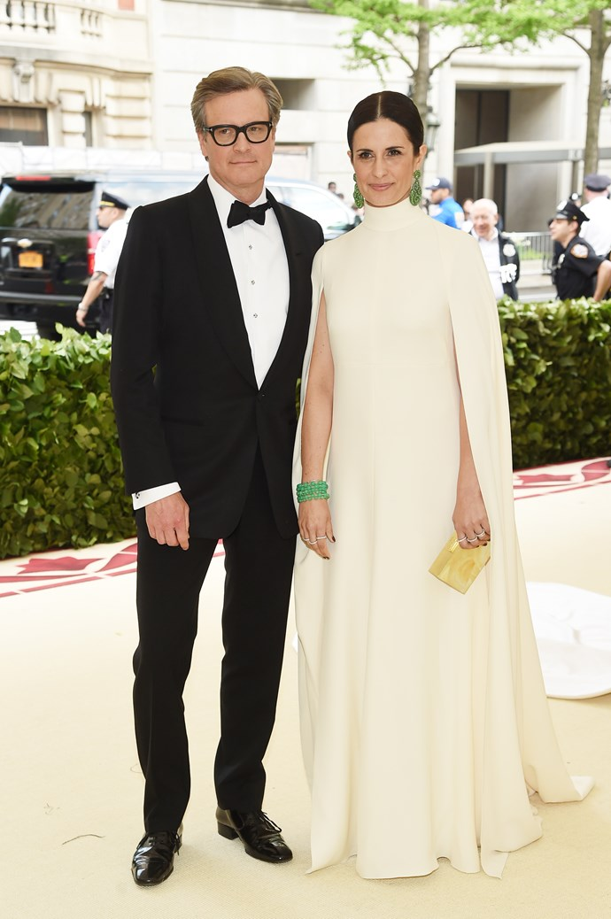Colin Firth and Livia Firth in Giambattista Valli Haute Couture