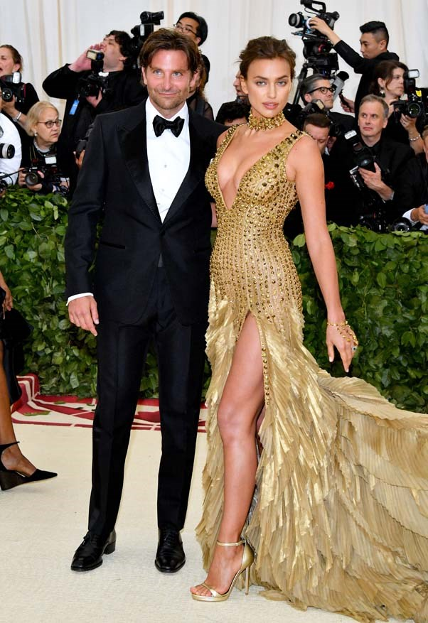 Bradley Cooper and Irina Shayk in Versace
