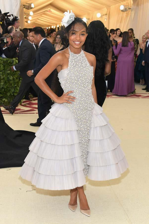Yara Shahidi in Chanel Couture