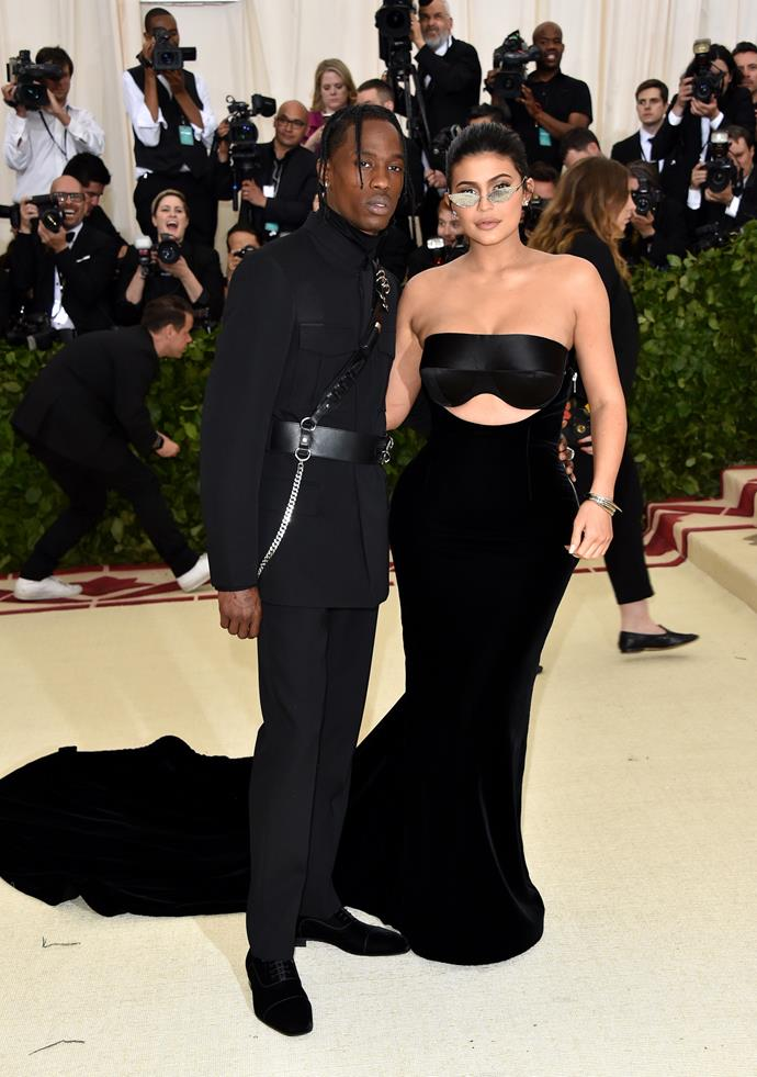Travis Scott and Kylie Jenner in Alexander Wang