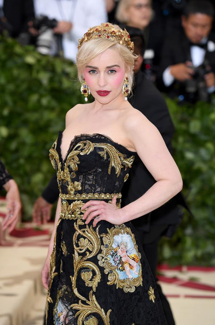 Emilia Clarke in Dolce & Gabbana