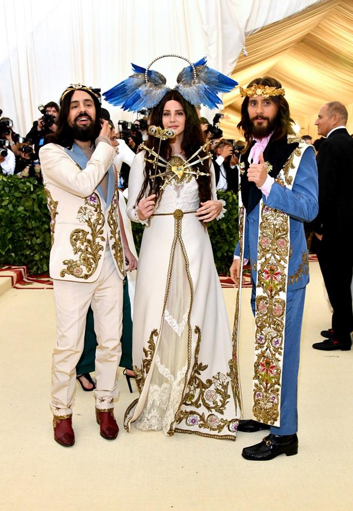 Alessandro Michele, Lana Del Rey and Jared Leto, all in Gucci
