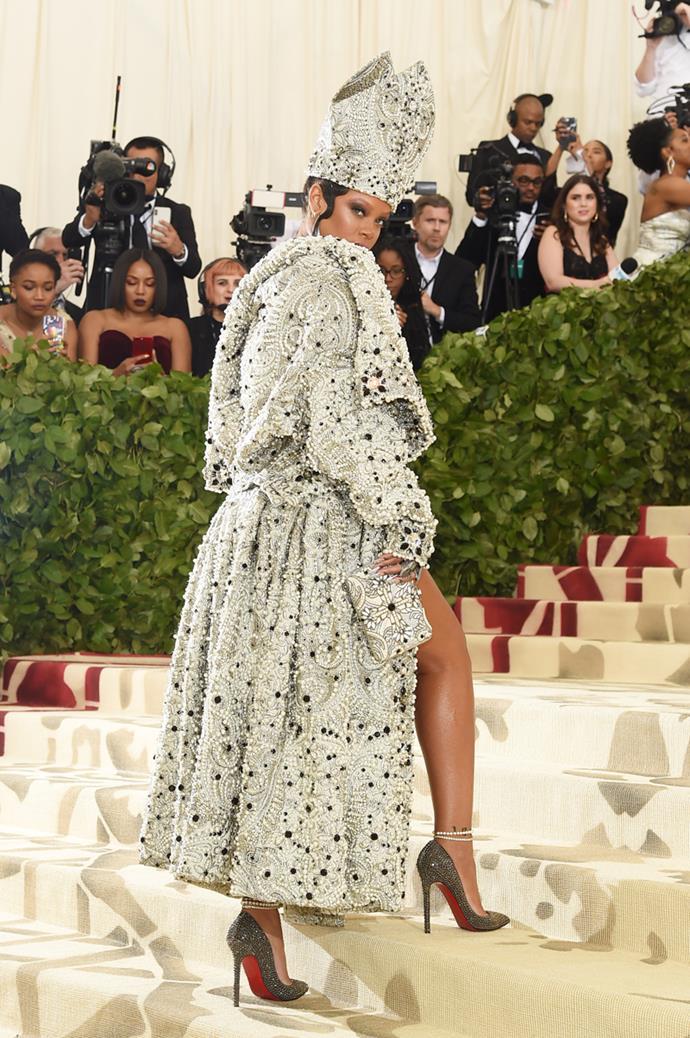Rihanna in Maison Margiela by John Galliano