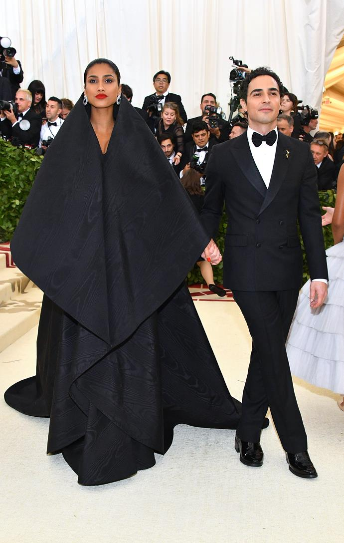 Iman Hammam in Zac Posen and Zac Posen
