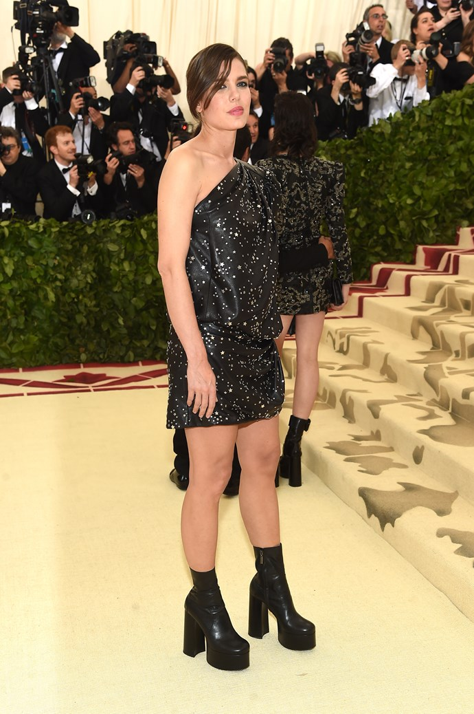 Charlotte Casiraghi in Saint Laurent