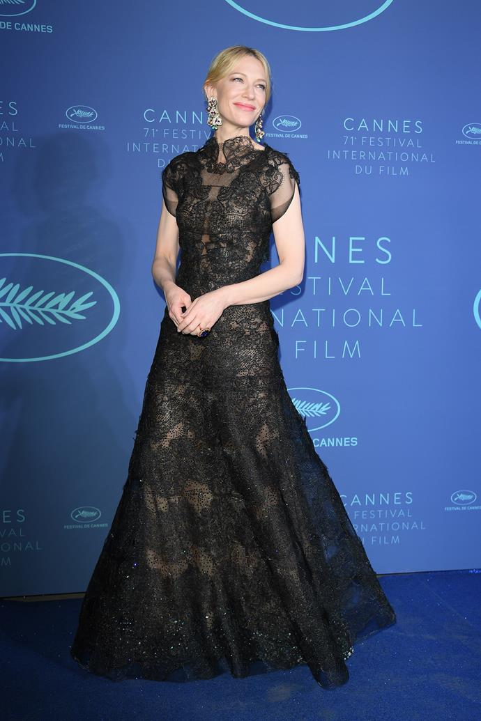 **Cate Blanchett in Armani Privé at the Gala dinner**