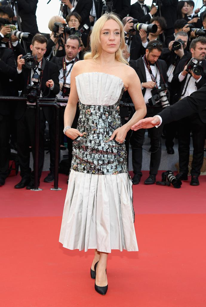 **Chloë Sevigny in Chanel Haute Couture at the premiere of '*Everybody Knows*'**