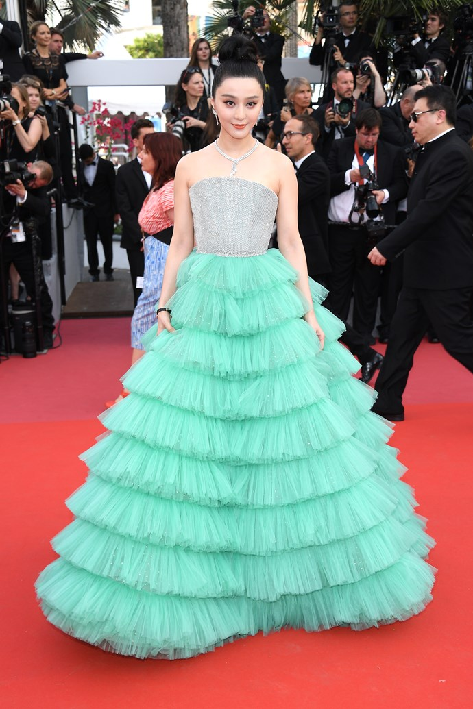 **Fan Bingbing in Ali Karoui Couture at the premiere of '*Everybody Knows*'**