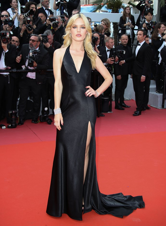 **Georgia May Jagger in a Twinset gown and Chopard jewellery at the premiere of '*Everybody Knows*'**
