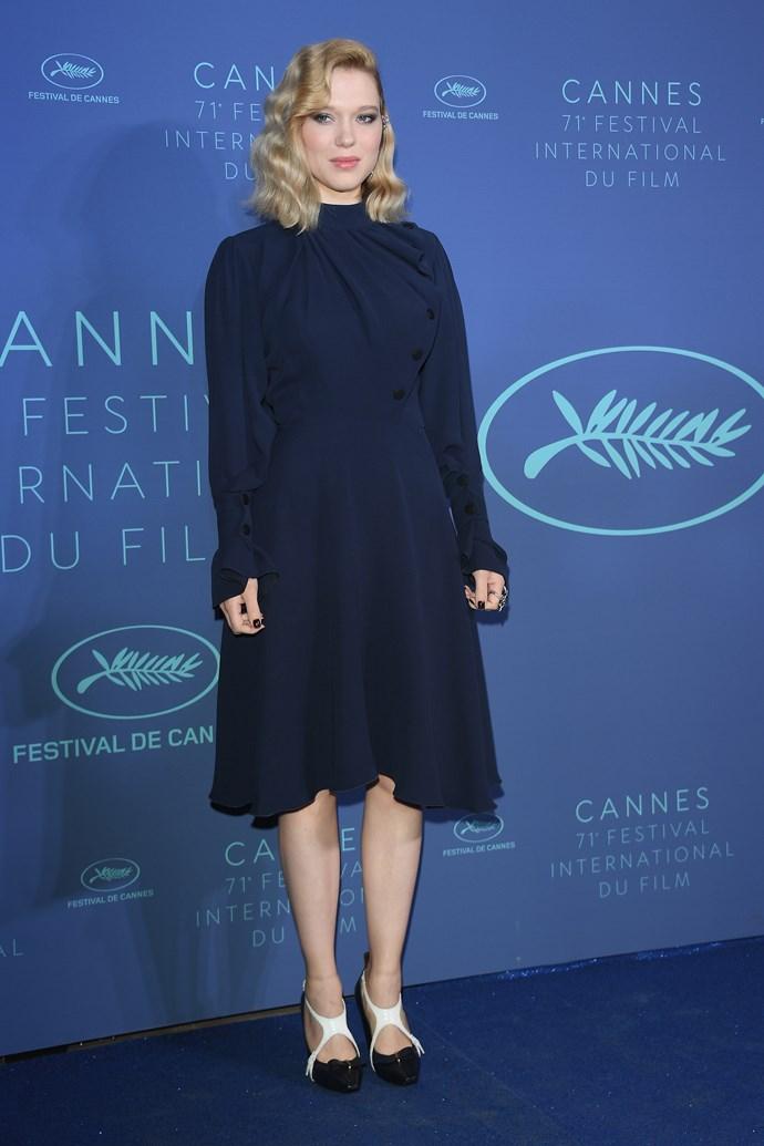 **Léa Seydoux in Louis Vuitton at the Gala dinner**