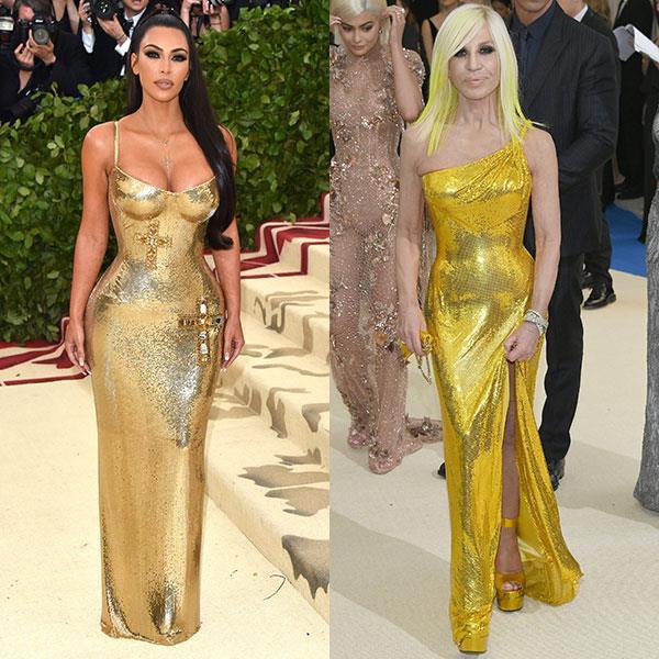 2018: Kim Kardashian in Versace<br> 2016: Donatella Versace in Versace