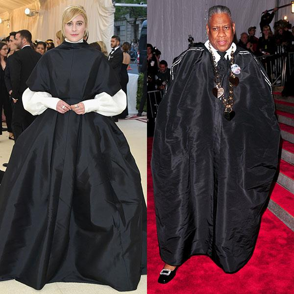 2018: Greta Gerwig in The Row<br> 2009: André Leon Talley