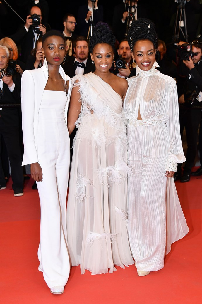 Sheila Munyiva, Wanuri Kuhiu and Samantha Mugatsia