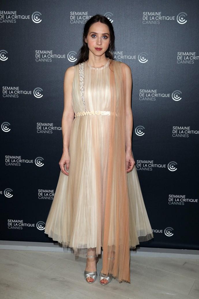 Zoe Kazan in Schiaparelli Couture