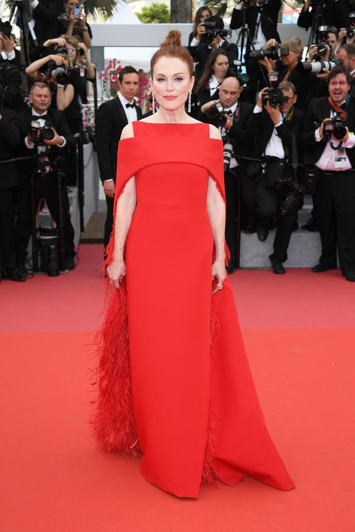In Givenchy Haute Couture on 8 May.