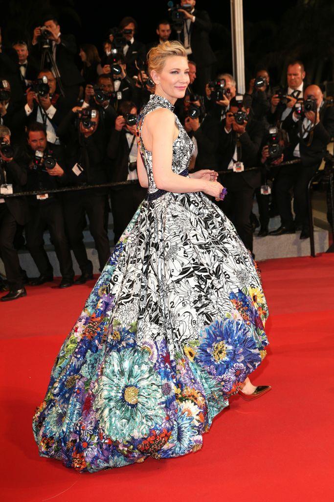 Cate Blanchett in Mary Katrantzou.