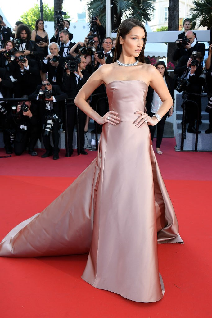 Bella Hadid in Christian Dior.