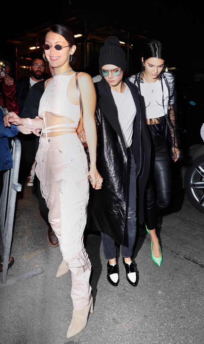 Bella Hadid And Kendall Jenner's Clubbing Style