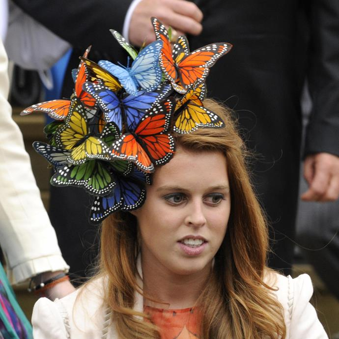 **PRINCESS BEATRICE AT DARBY DAY: 2008** <br><br> What can we say; she's always been creative.