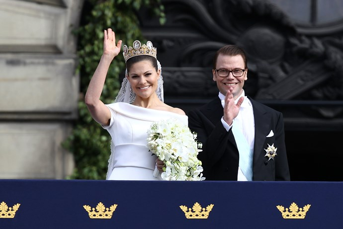 **Victoria, Crown Princess of Sweden, 2010**  Married: Daniel Westling  Designer: Swedish designer Pär Engsheden  Estimated Cost: It has never been disclosed but it was made from duchess silk satin and featured a 5-metre train.