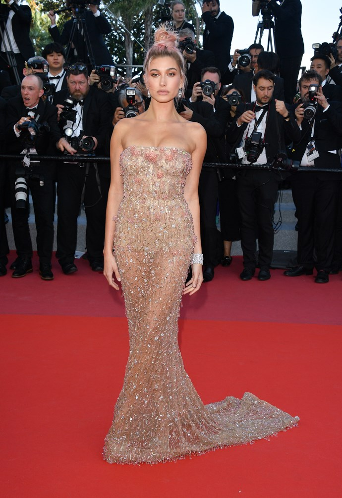 Hailey Baldwin at Cannes.
