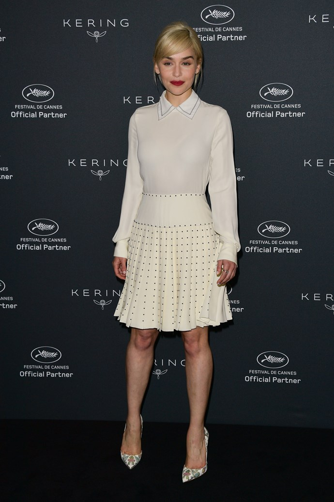 Emilia Clarke at Cannes.