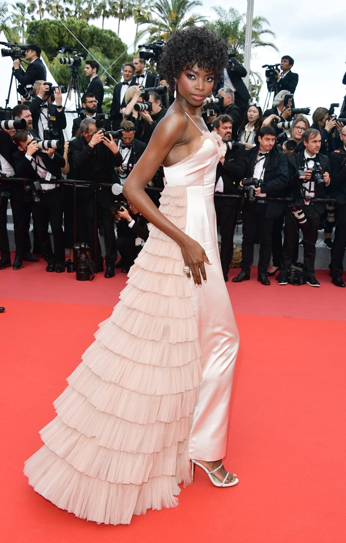 Maria Borges at Cannes.