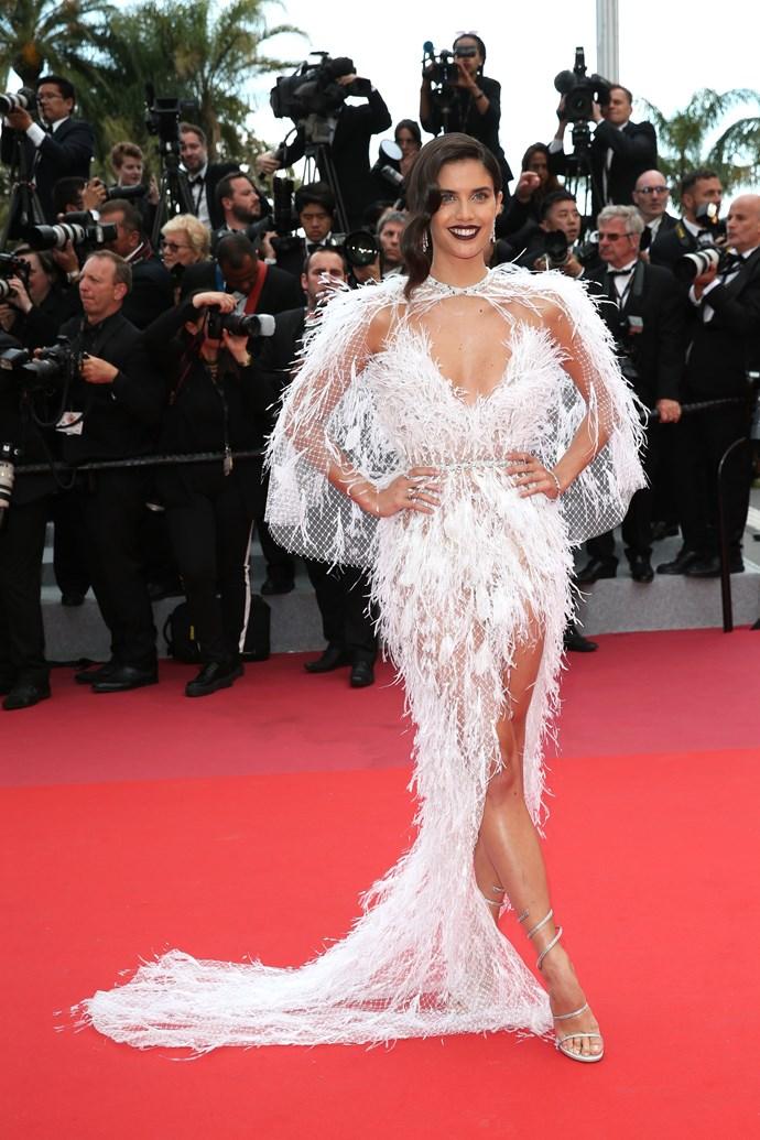 Sara Sampaio at Cannes.
