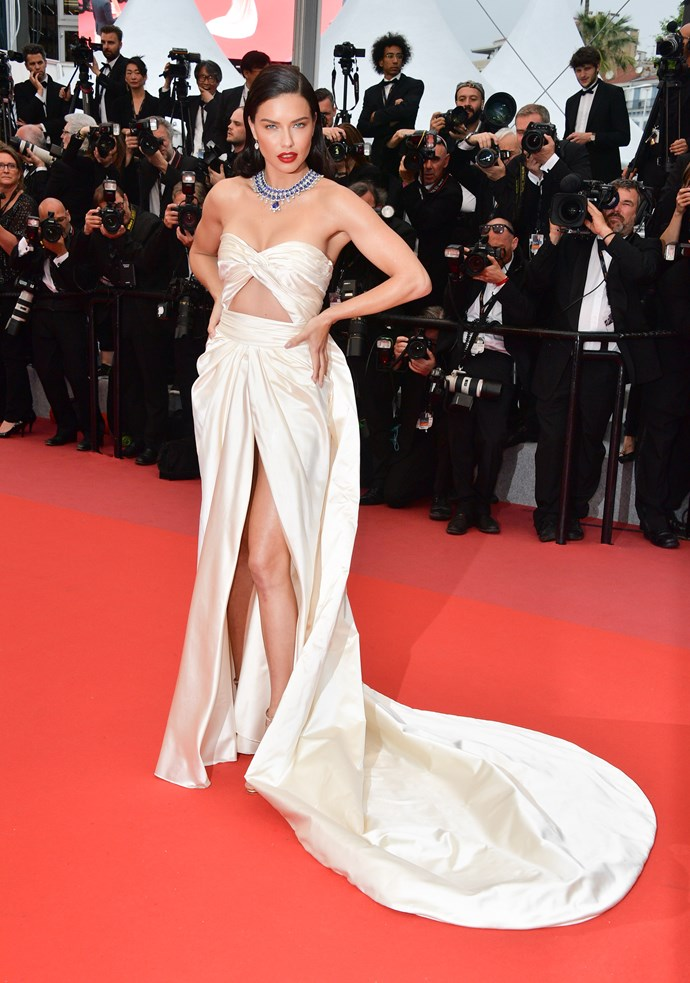 Adriana Lima at Cannes.
