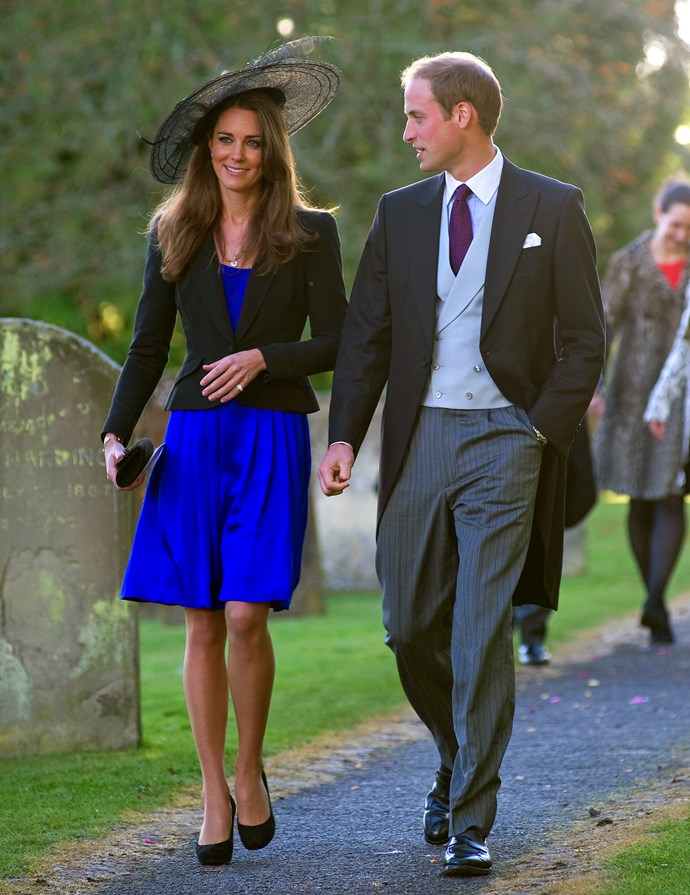 At the wedding of Harry Meade to Rosie Bradford in 2010.