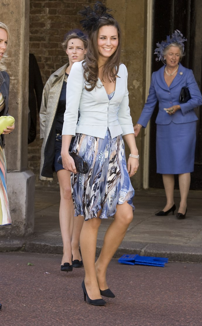 At the wedding of Lady Rose Windsor who married George Gilman in 2008.