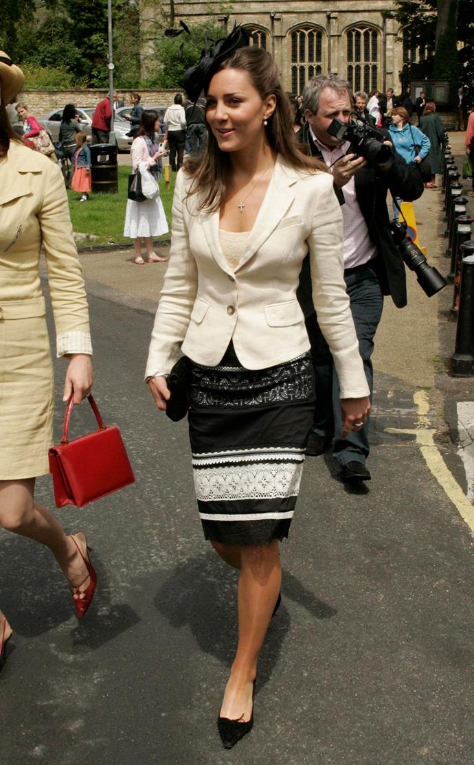 At the the wedding of Hugh Van Cutsem Junior to Rose Astor in 2005.