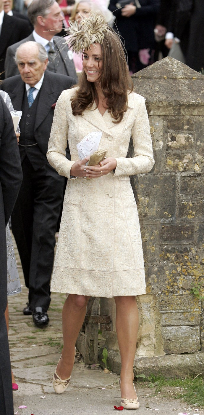 At the wedding of her step-sister-in-law Laura Parker Bowles to Harry Lopes in 2006.